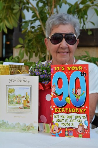 Axarquia expat celebrates 90th birthday