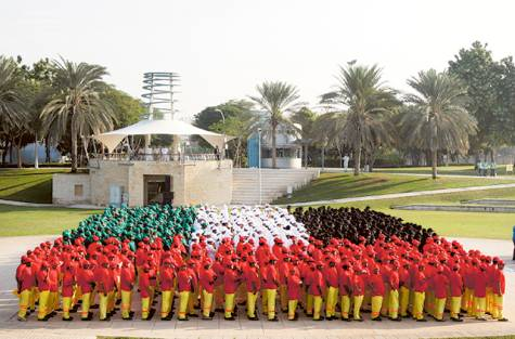 1,000 expats create human flag of UAE